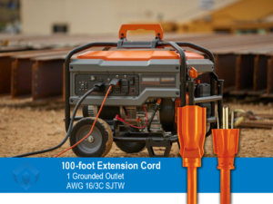100 foot Safety Orange Extension Cord