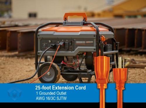 Safety Orange Extension Cord
