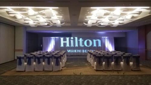 Image and Logo Projection - Hilton Waikiki Beach